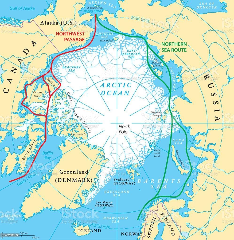 Arctic ocean sea routes map stock vector art more images of arctic ocean sea routes map royalty free arctic ocean sea routes map stock vector art gumiabroncs Choice Image