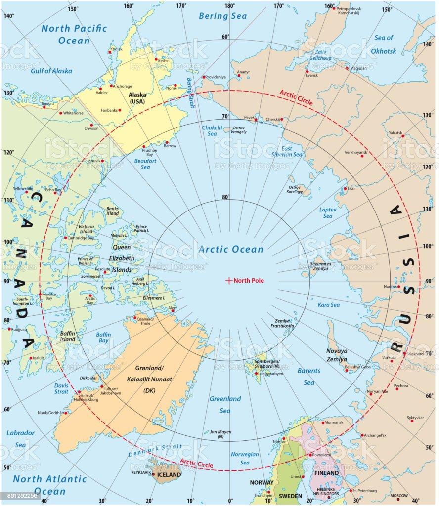 arctic vector map vector art illustration