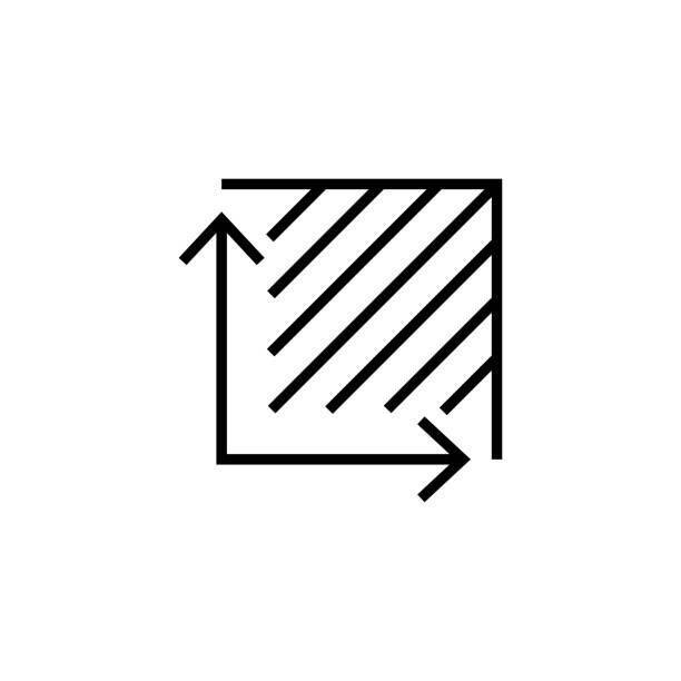 Area icon symbol simple design vector art illustration
