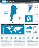 Map of Argentina - Infographic Vector illustration