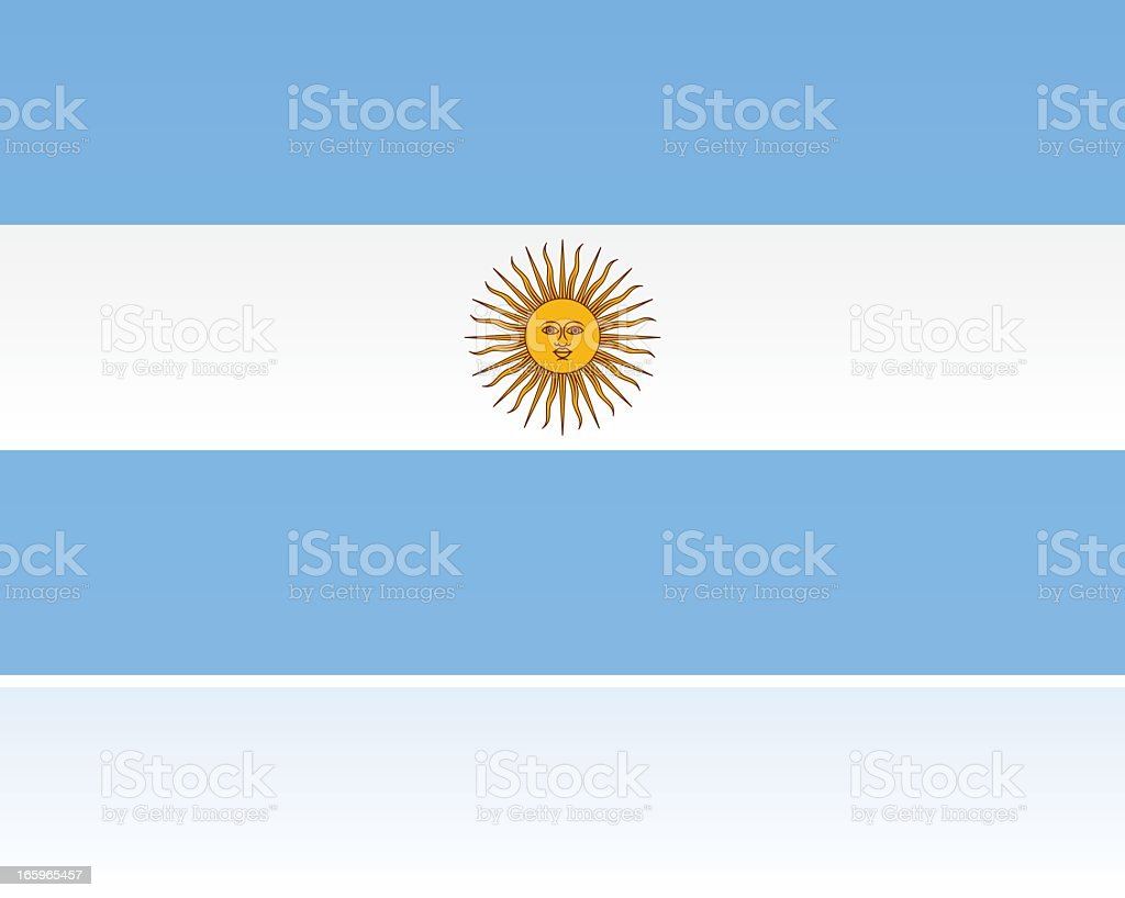 Argentina Country Flag, South America royalty-free stock vector art