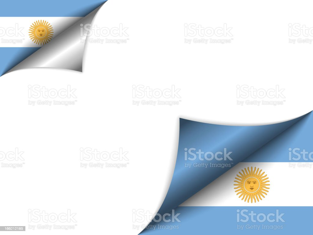 Argentina Country Flag Turning Page vector art illustration