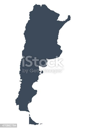 istock Argentina country map 470862784