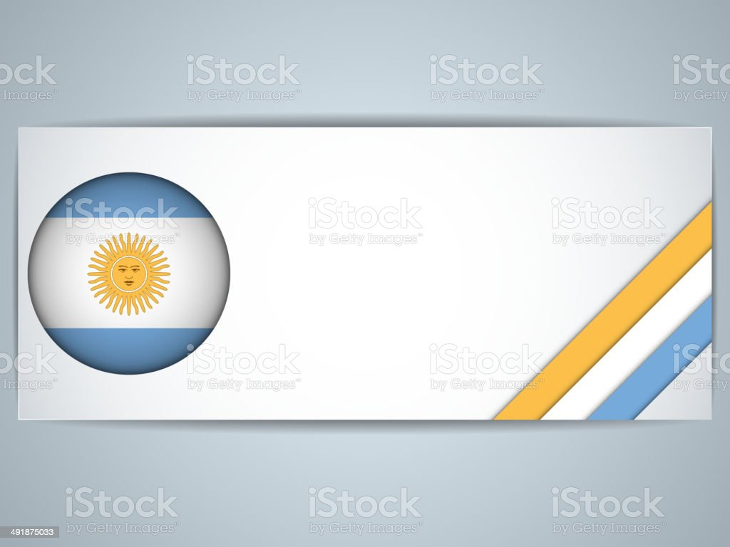Argentina Country Set of Banners vektorkonstillustration