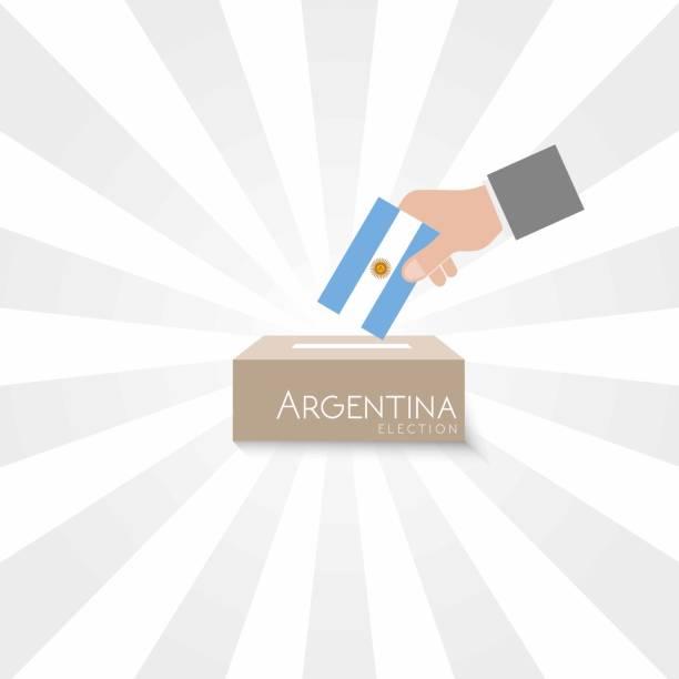 Argentina Elections Vote Box Vector Work vector art illustration