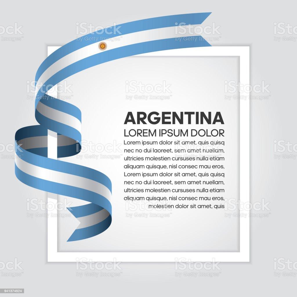 Argentina flag background vector art illustration