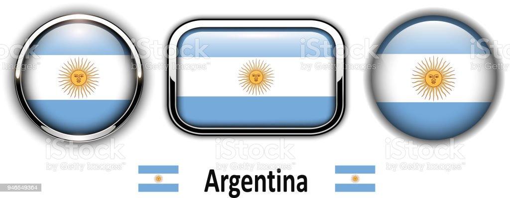 Botones de bandera Argentina - ilustración de arte vectorial