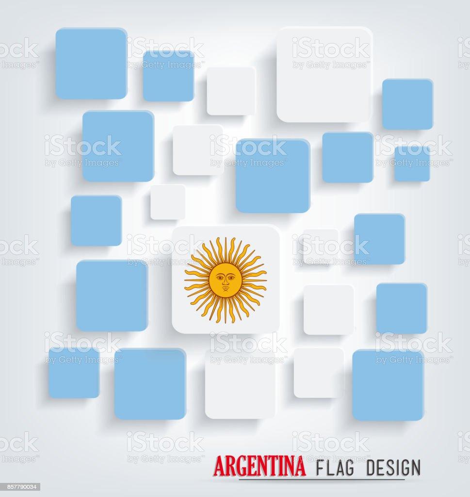 アルゼンチンの旗のデザイン ベクターアートイラスト