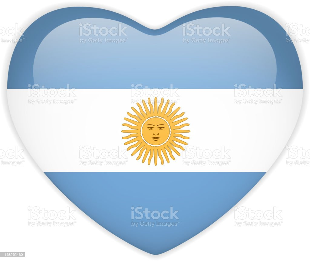 Argentina Flag Heart Glossy Button royalty-free argentina flag heart glossy button stock vector art & more images of argentina