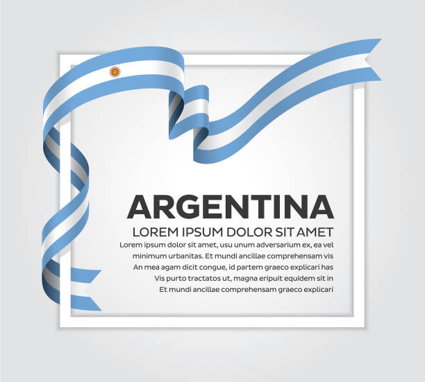 argentina flag on a white background - argentina flag stock illustrations, clip art, cartoons, & icons
