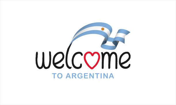 Argentinien-Flagge auf einem weißen Hintergrund – Vektorgrafik