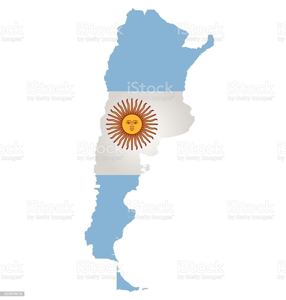 Argentina Flag vector art illustration
