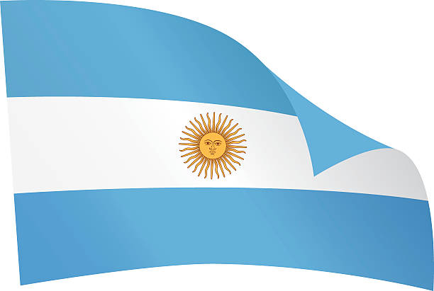アルゼンチンの国旗 ベクターアートイラスト