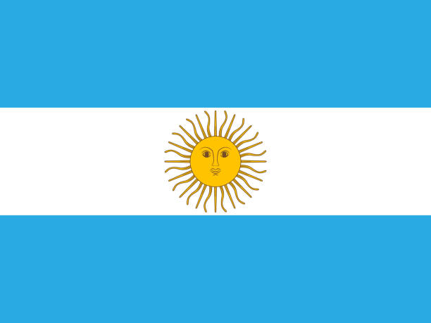 Bandera Argentina - ilustración de arte vectorial