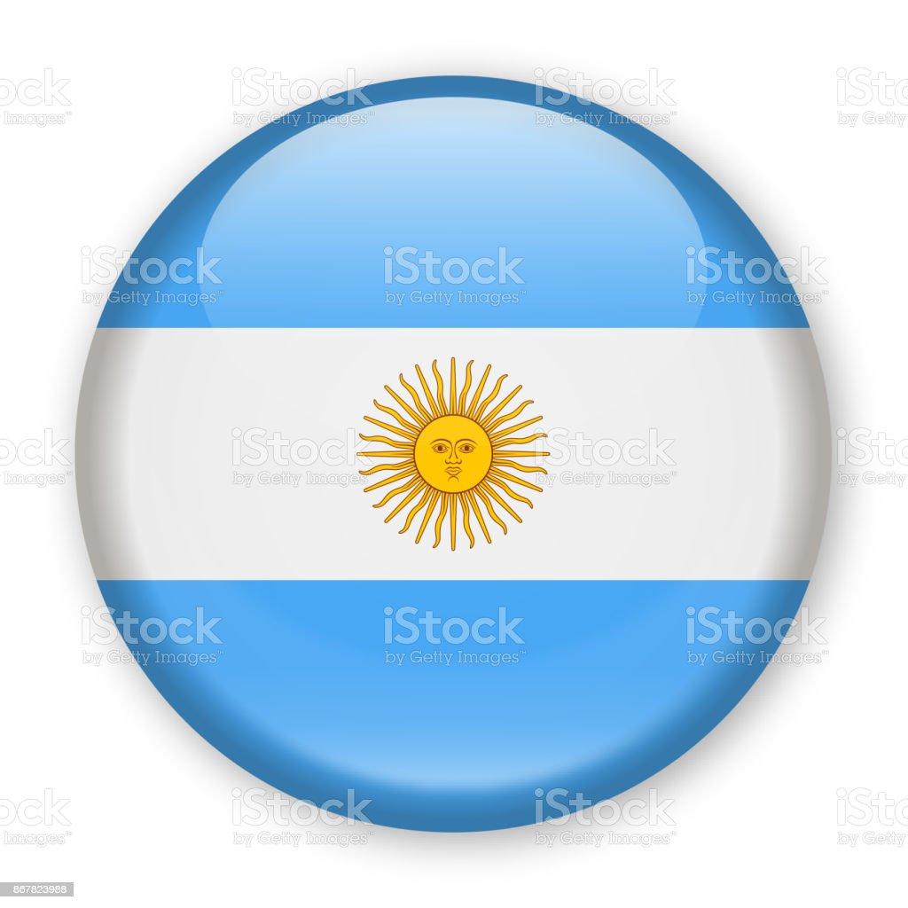 Argentinien-Flagge Vektor rundes Symbol – Vektorgrafik