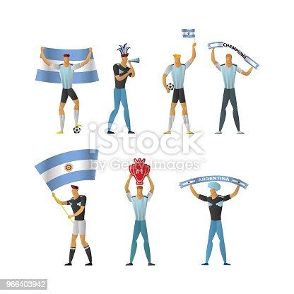 istock Argentina football fans Cheerful soccer 966403942