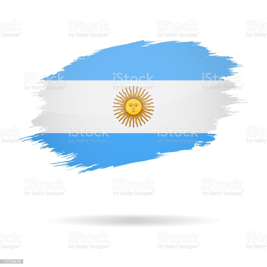 Argentine - Grunge drapeau Vector Glossy Icon - Illustration vectorielle