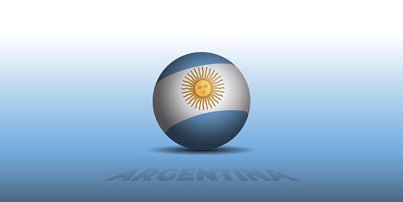 Argentina Independence Day template design with Argentina ball flag