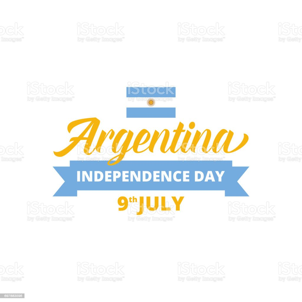 Argentina Independence Day. Typography for national holidays in Argentina vector art illustration