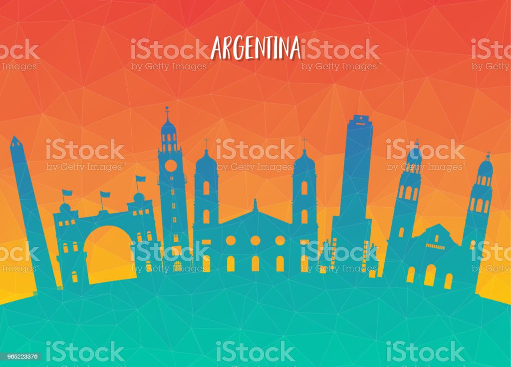 Argentina Landmark Global Travel And Journey paper background. Vector Design Template.used for your advertisement, book, banner, template, travel business or presentation royalty-free argentina landmark global travel and journey paper background vector design templateused for your advertisement book banner template travel business or presentation stock vector art & more images of argentina