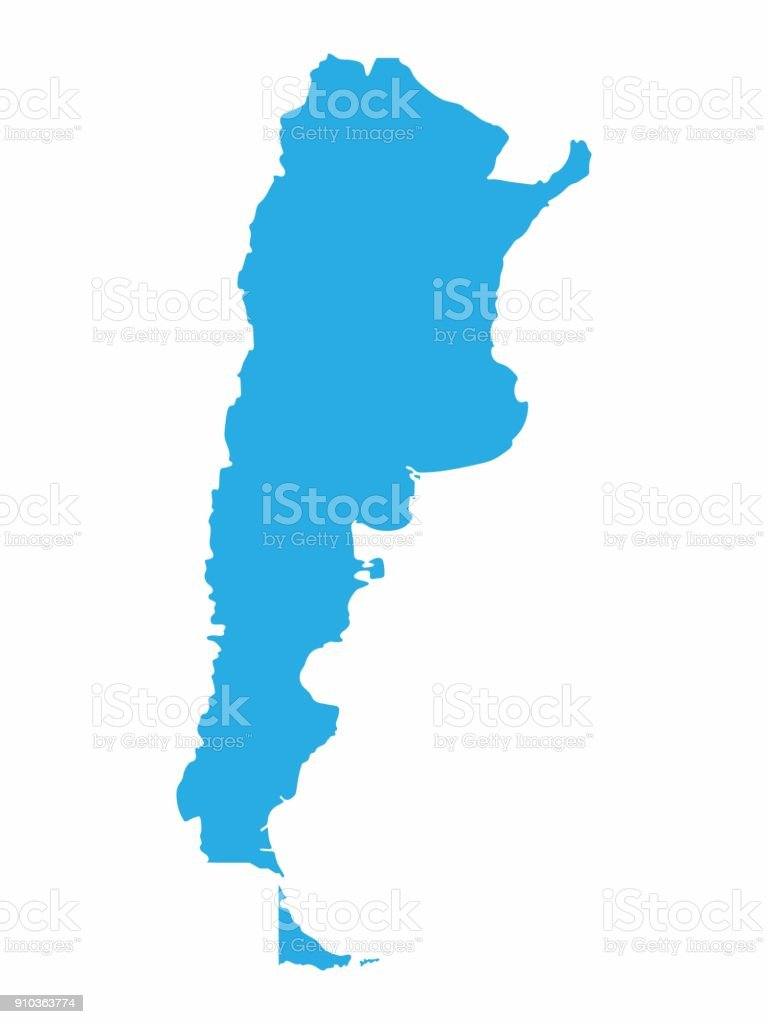 Argentina map on blue background, Vector Illustration vector art illustration