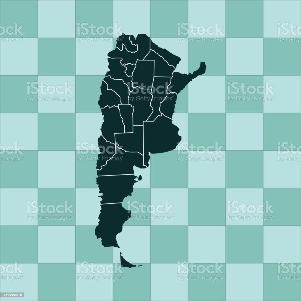 Argentina map - Grafika wektorowa royalty-free (Ameryka)