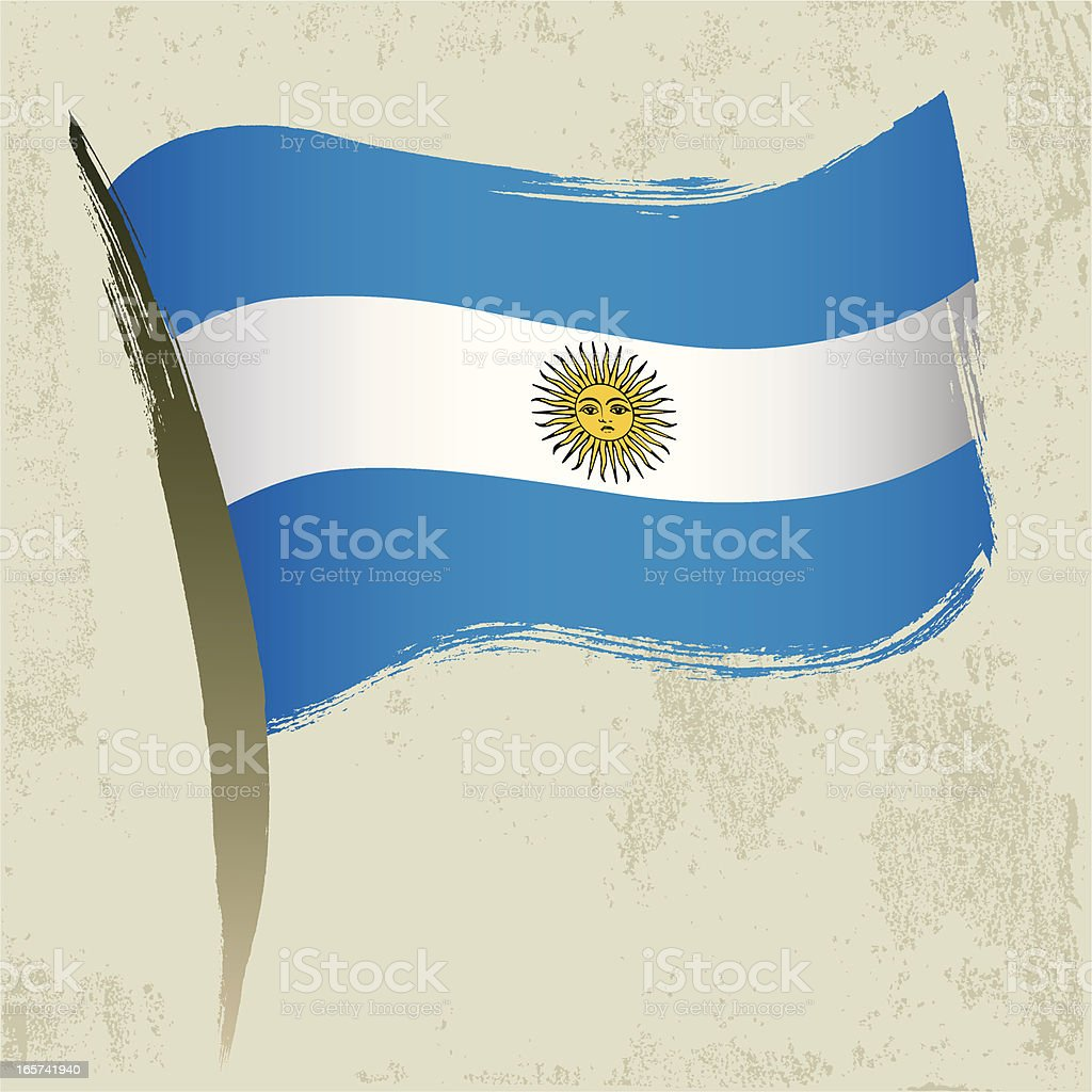 Argentina National Flag vector art illustration