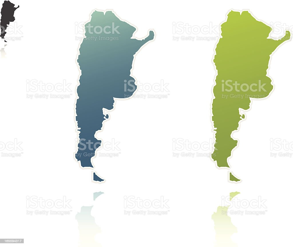 Argentina Outlines royalty-free stock vector art