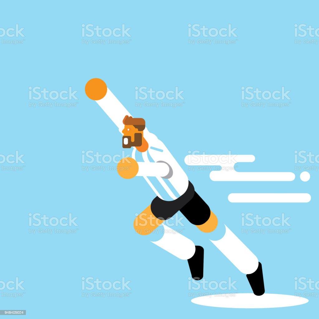 Celebración de jugadores de Argentina con la mano en el vector de aire - ilustración de arte vectorial