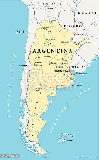 istock Argentina Political Map 498213273