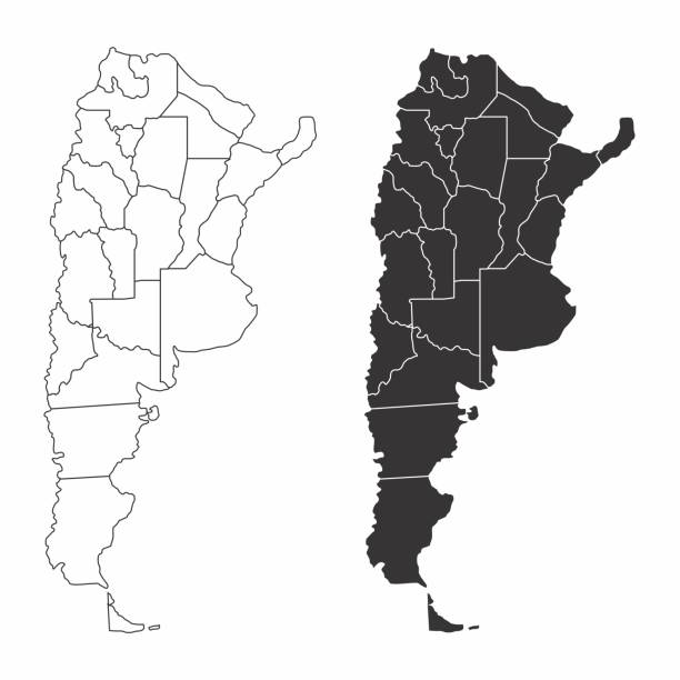 illustrations, cliparts, dessins animés et icônes de cartes des provinces de l'argentine - argentine