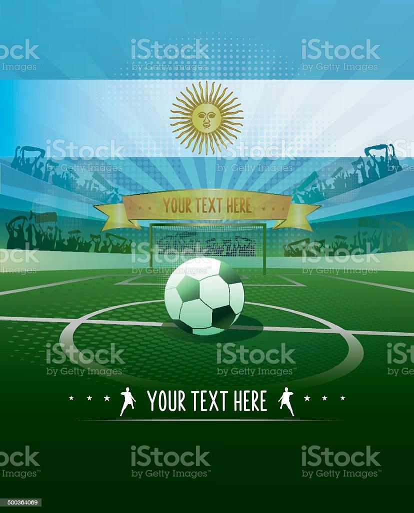 Fondo de fútbol de Argentina - ilustración de arte vectorial