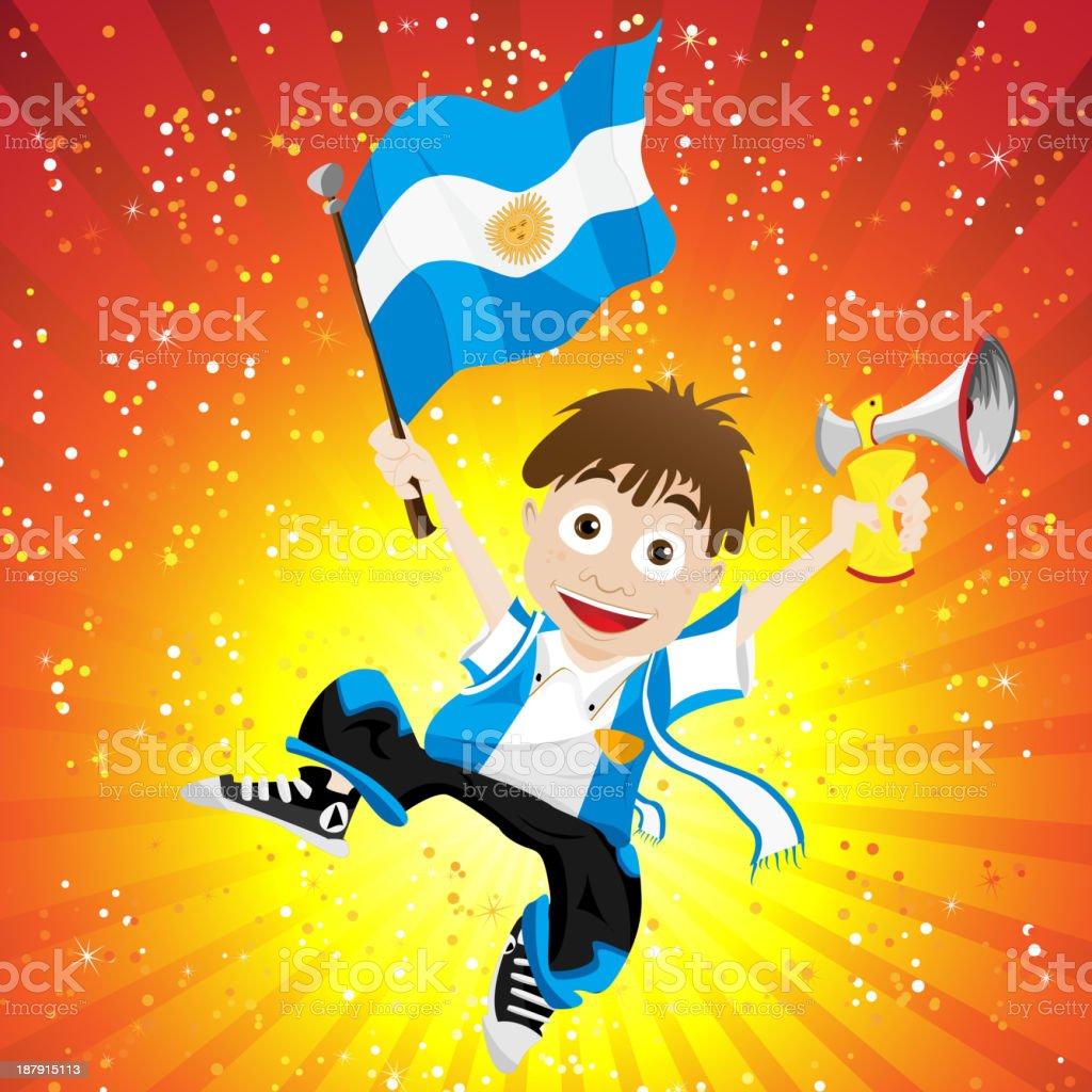 Niño de fútbol de Argentina - ilustración de arte vectorial