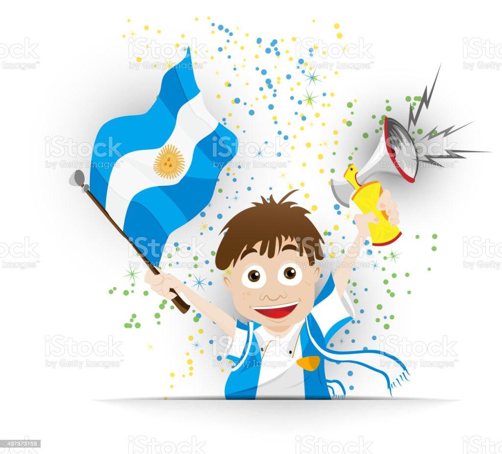 Bandera de historieta de fútbol de Argentina - ilustración de arte vectorial