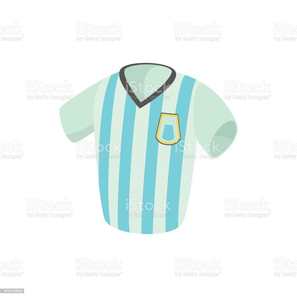 Argentina fútbol jersey icono estilo de dibujos animados - ilustración de arte vectorial