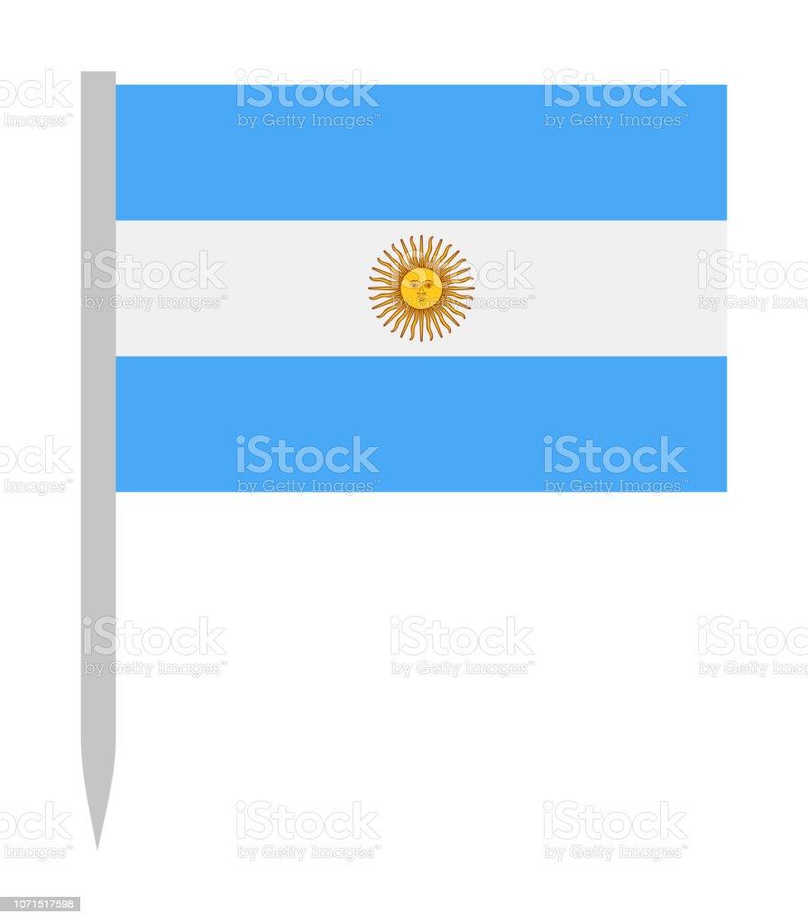 Argentina - Vector bandeira pino liso ícone - ilustração de arte em vetor