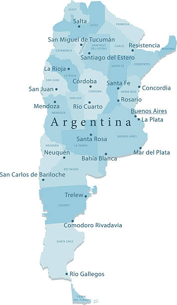Cordoba Argentina Clip Art Vector Images Illustrations IStock - Argentina map cordoba