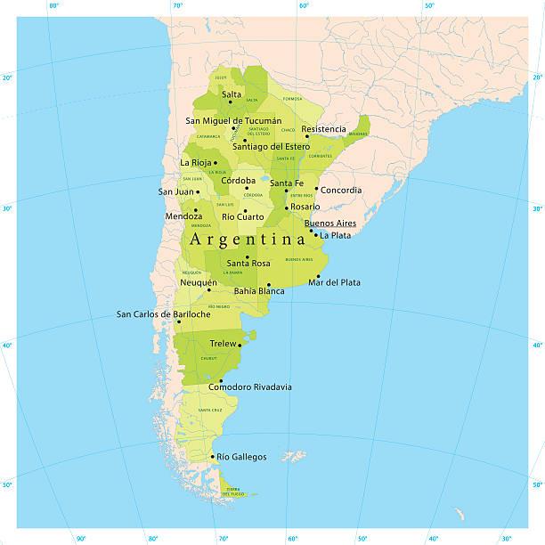 Argentina Vector Map vector art illustration
