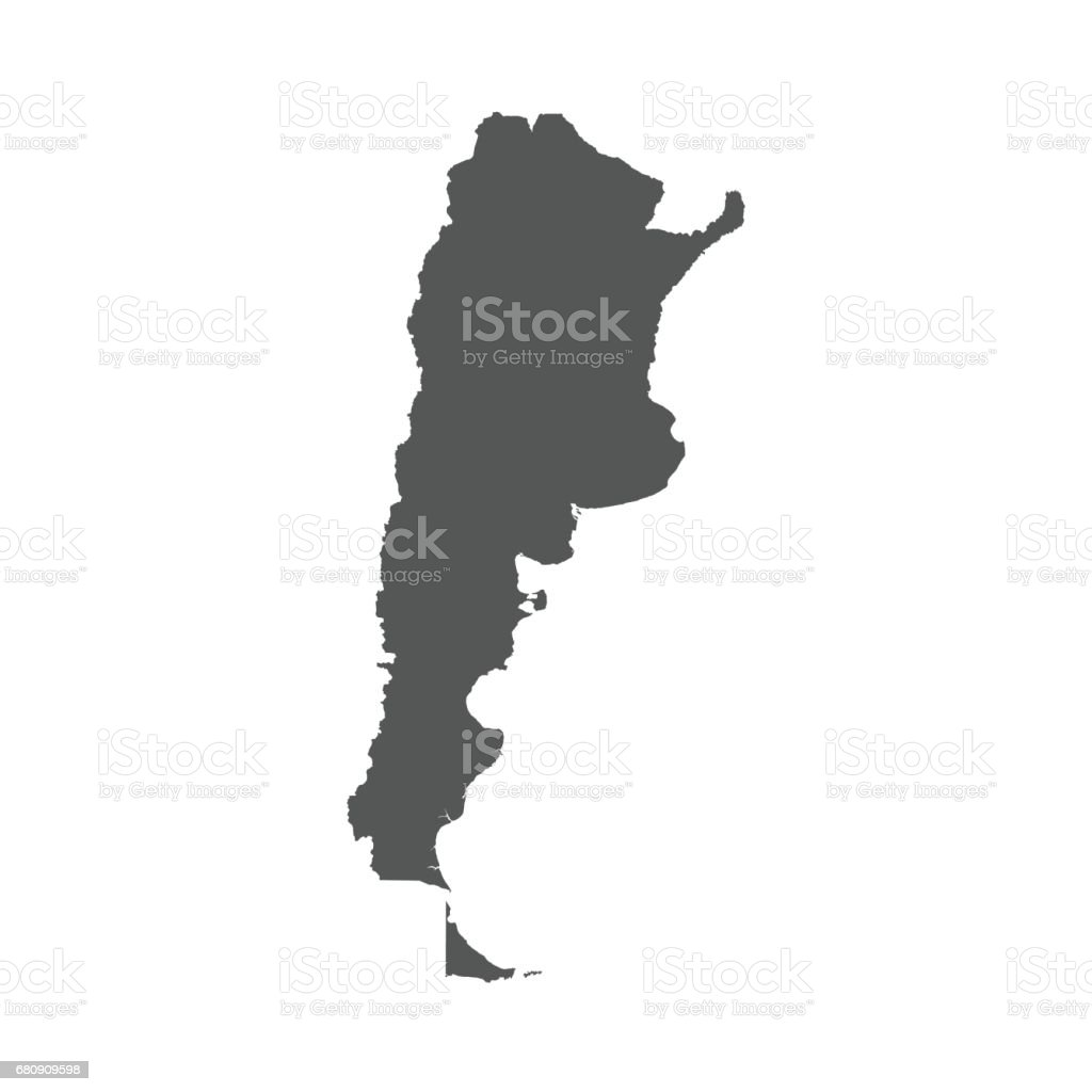 Argentina vector map. royalty-free argentina vector map stock vector art & more images of argentina
