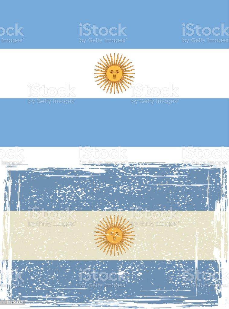 Argentine grunge flag. vector art illustration