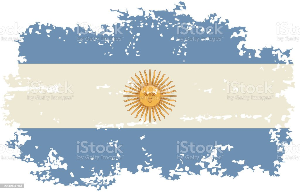 Argentine grunge flag. Vector illustration. vektorkonstillustration