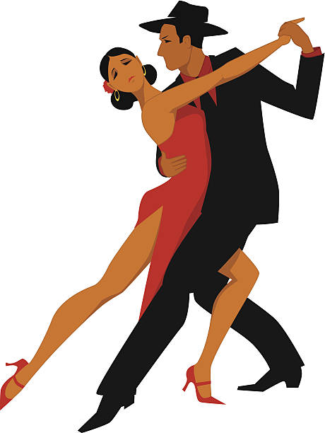 Argentine tango vector art illustration