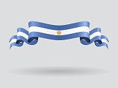 Argentinean wavy flag. Vector illustration.