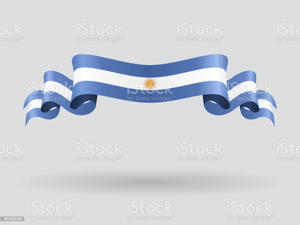 Argentinean wavy flag. Vector illustration. vektorkonstillustration