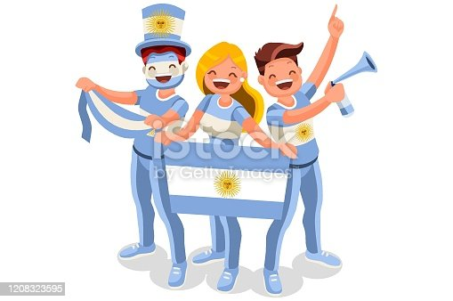 istock Argentines with Argentina Flag Symbol 1208323595