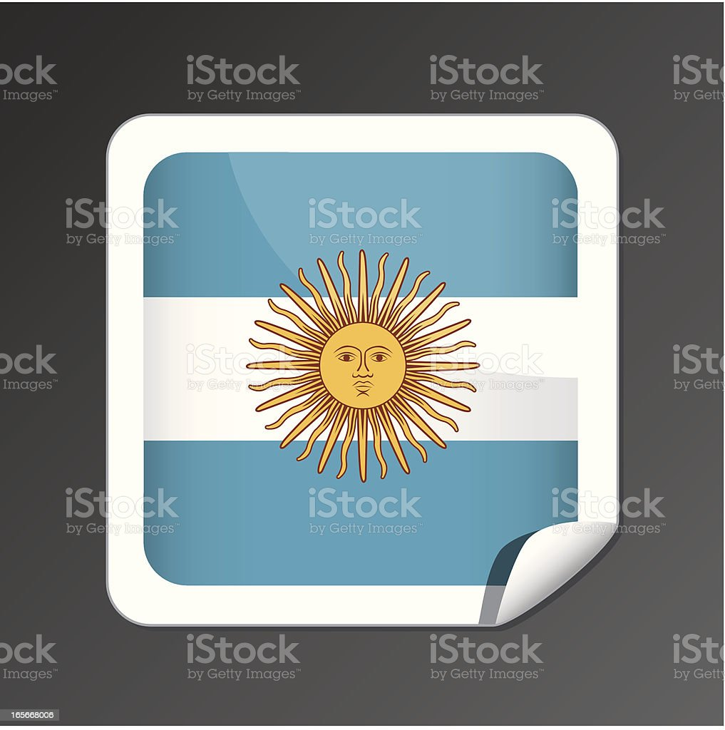 Argentinian flag button royalty-free stock vector art