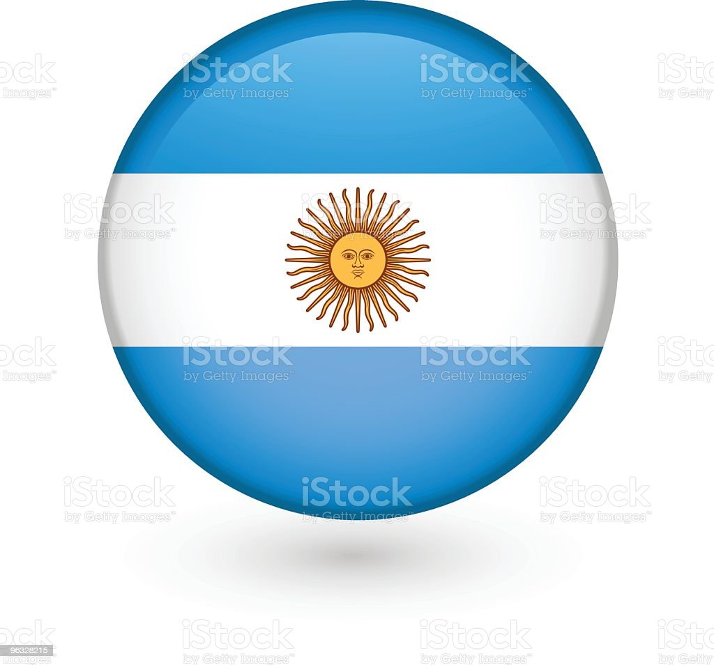 Argentinian flag vector button royalty-free stock vector art
