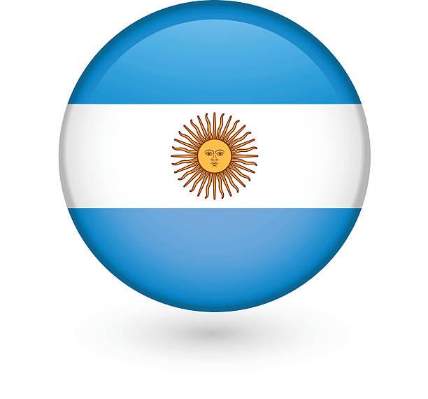 アルゼンチンの国旗ベクトルボタン ベクターアートイラスト