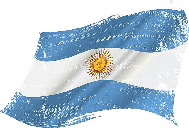 illustrations, cliparts, dessins animés et icônes de grunge drapeau argentine - argentine