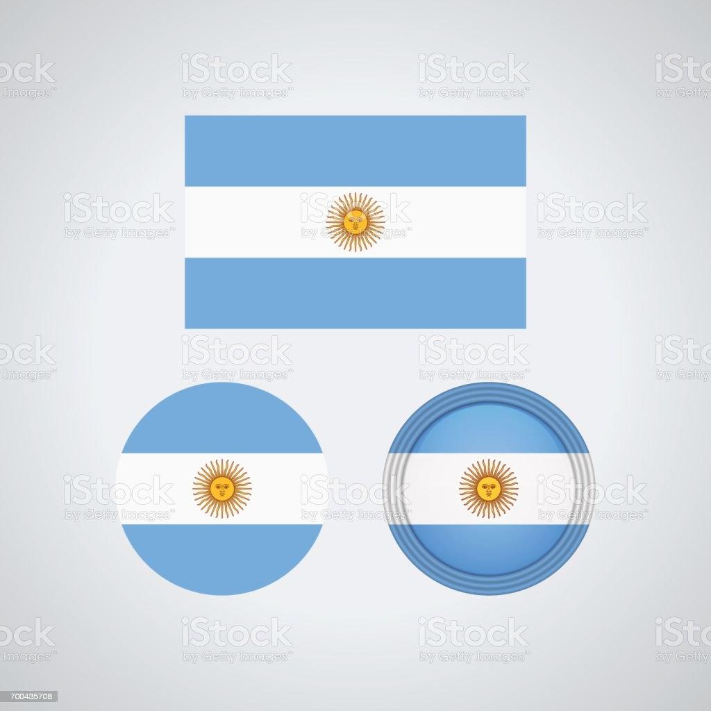 Argentinian trio flags, vector illustration vector art illustration